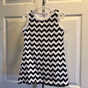 Chevron Little Girls Dress